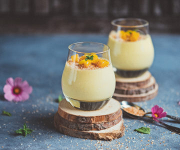 Mango coconut mousse